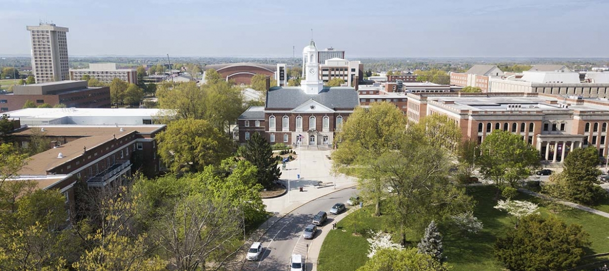 Aerial view of Keen Johnson Building