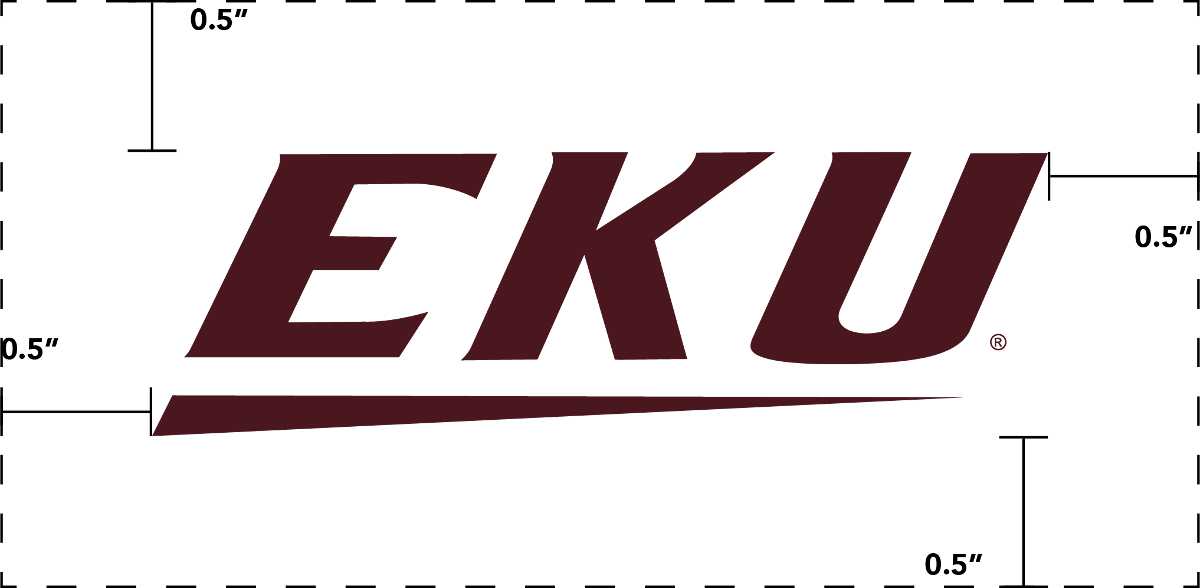 EKU logo with clear zone
