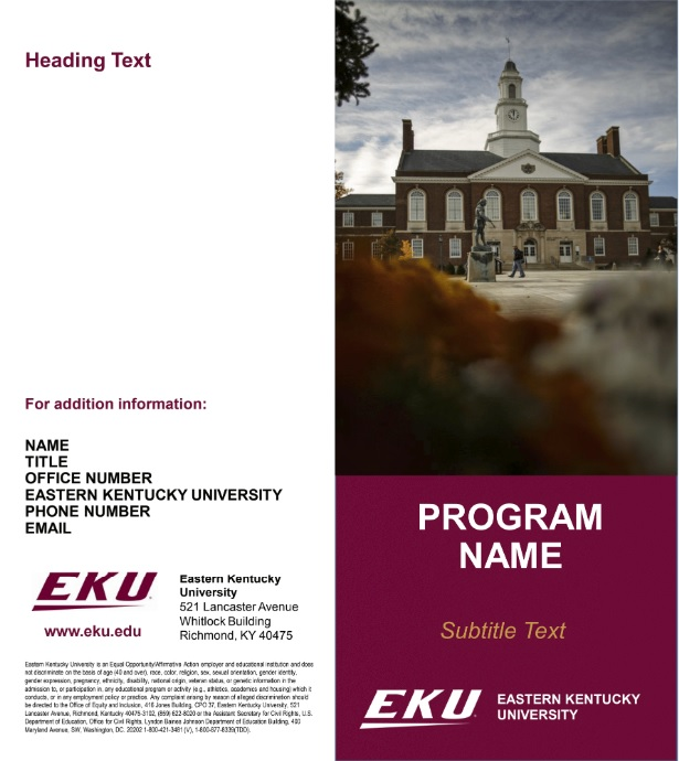 Templates  Communications  Brand Management  Eastern Kentucky